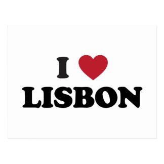 I coeur Lisbonne Portugal Carte Postale
