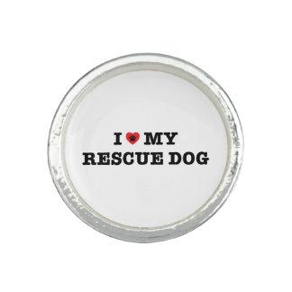 I coeur mon anneau de chien de délivrance bagues