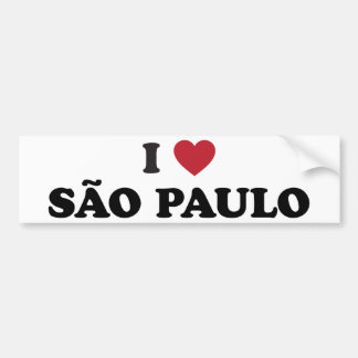 I coeur Sao Paulo Brésil Autocollant De Voiture