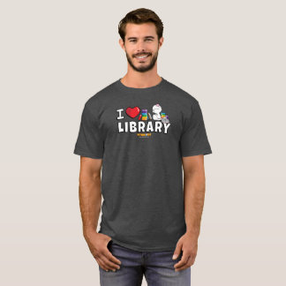 I das Shirt der Herz-Bibliotheks-Männer