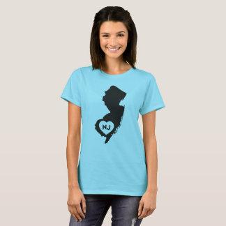 I der T - Shirt der Liebe-New-Jersey Staats-Frauen
