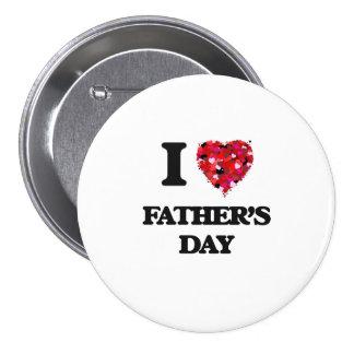 I der Vatertag Liebe- Runder Button 7,6 Cm