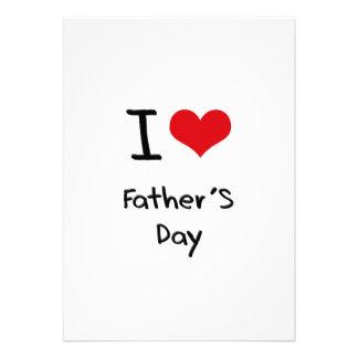 I der Vatertag Liebe- Individuelle Ankündigung