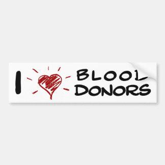 I donneurs de sang de coeur autocollant de voiture