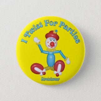 I Drehung für Partys-Knopf-Clown-Ballon Runder Button 5,7 Cm