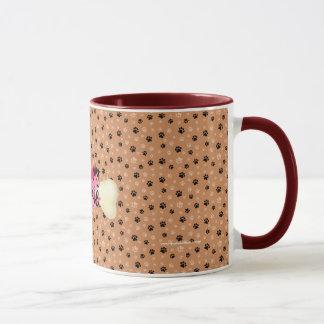 I druckt Liebe meine Yorkie Knochen-Tatze Tasse