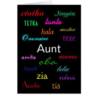 """""""I einer Tante Birthday"""" Karte - kundengerecht"""