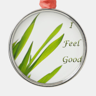 I Feel Good Wellness Silbernes Ornament