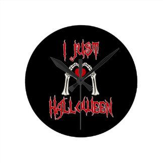 I gerade Liebe Halloween Runde Wanduhr