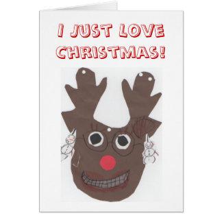 I gerade Liebe-Weihnachtsgruß-Karte Karte