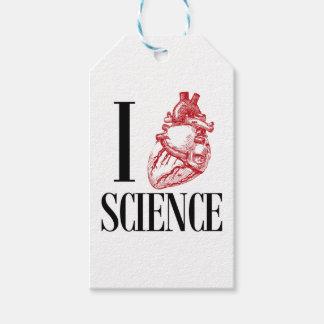 I heart science geschenkanhänger