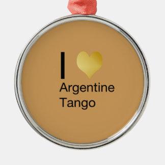 I Herz-Argentinien-Tango Silbernes Ornament