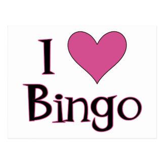 I Herz-Bingo Postkarte