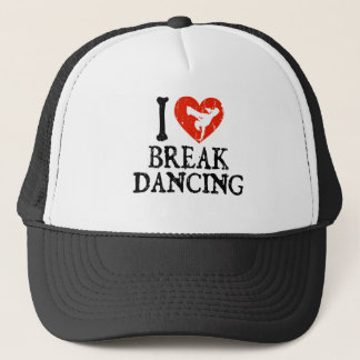 I Herz Breakdancing - Mädchen Truckerkappe