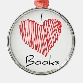 I Herz-Bücher Silbernes Ornament