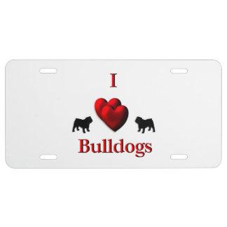 I Herz-Bulldoggen US Nummernschild
