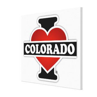 I Herz Colorado Leinwanddruck