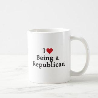 I Herz, das ein Republikaner ist Kaffeetasse