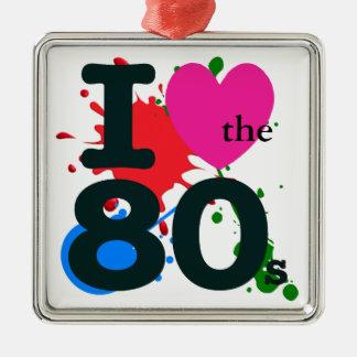 I Herz der 80er Silbernes Ornament