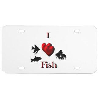 I Herz-Fische US Nummernschild