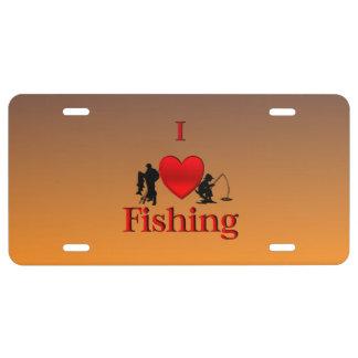 I Herz-Fischen-Morgen US Nummernschild