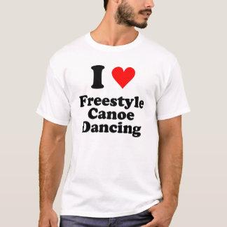 I Herz-Freistil-Kanu-Tanzen T-Shirt