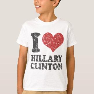 I Herz Hillary Clinton Retro T-Shirt