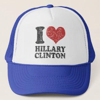 I Herz Hillary Clinton Retro Truckerkappe