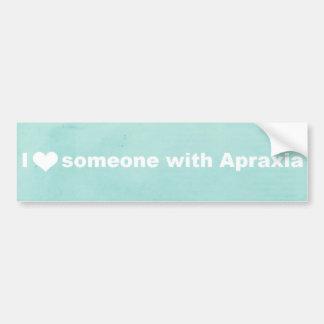 I Herz jemand mit Apraxia - Autoaufkleber