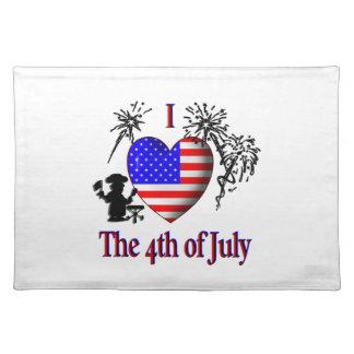I Herz Juli 4. Tischset