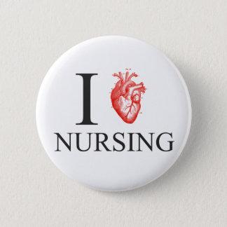 I Herz-Krankenpflege Runder Button 5,1 Cm