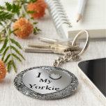I Herz (Liebe) mein Yorkie Keychain Schlüsselanhänger