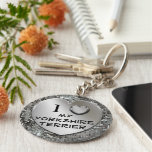 I Herz (Liebe) mein Yorkshire-Terrier Keychain Schlüsselanhänger