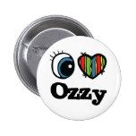I Herz (Liebe) Ozzy Anstecknadelbutton