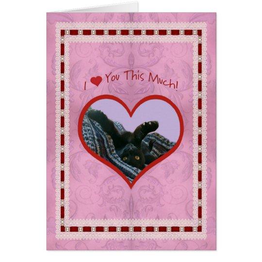I Herz (Liebe) Sie dieser viele Valentine Karte