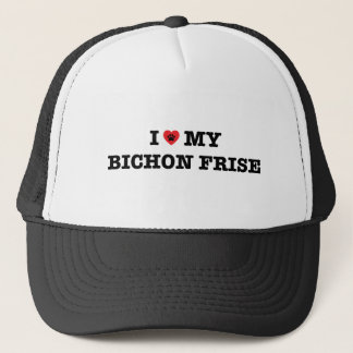 I Herz mein Bichon Frise Fernlastfahrer-Hut Truckerkappe