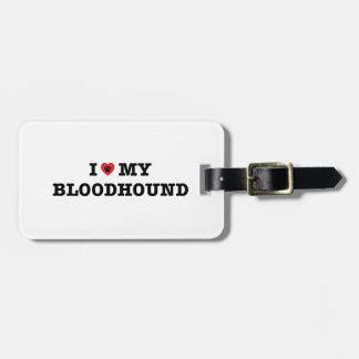 I Herz mein Bluthund-Gepäckanhänger Gepäckanhänger