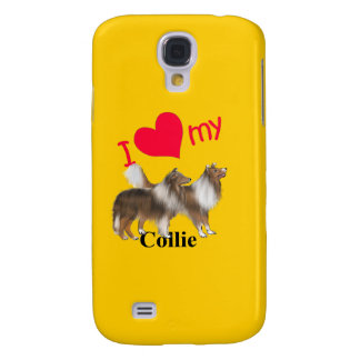 I Herz mein Collie Galaxy S4 Hülle