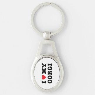 I Herz mein Corgi Keychain Schlüsselanhänger