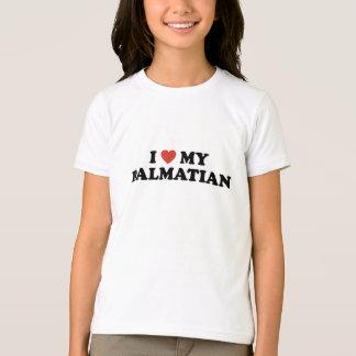I Herz mein dalmatinischer T - Shirt