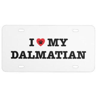I Herz mein dalmatinisches Kfz-Kennzeichen US Nummernschild