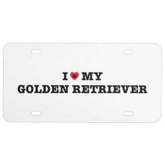 I Herz mein golden retriever-Kfz-Kennzeichen US Nummernschild