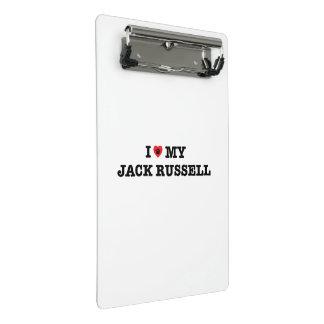 I Herz mein Jack-Russellminiklemmbrett Mini Klemmbrett