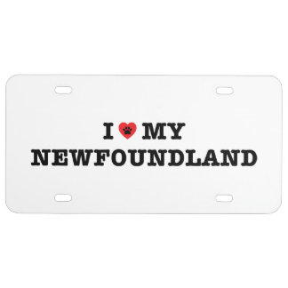 I Herz mein Neufundland-Kfz-Kennzeichen US Nummernschild