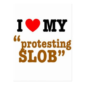 """I Herz mein """"Protest von Slob """" Postkarten"""