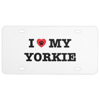 I Herz mein Yorkie Kfz-Kennzeichen US Nummernschild
