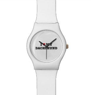 I Herz meine Armbanduhr der Dackel-May28th