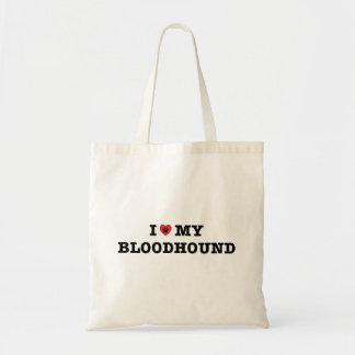 I Herz meine Bluthund-Taschen-Tasche Tragetasche