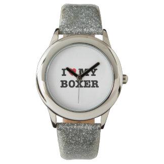 I Herz meine Boxer-Armbanduhr Uhr