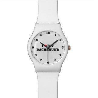 I Herz meine Dackel nummeriert Armbanduhr